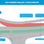 Findon Valley Active Travel Scheme Drawing