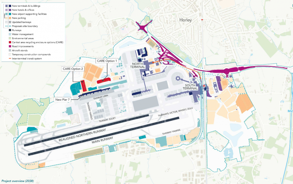 Map of proposed airport layout
